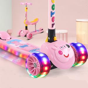 滑板车儿童1-2-3-6-12岁小孩单脚宝宝三合一溜溜车男孩折叠滑滑车