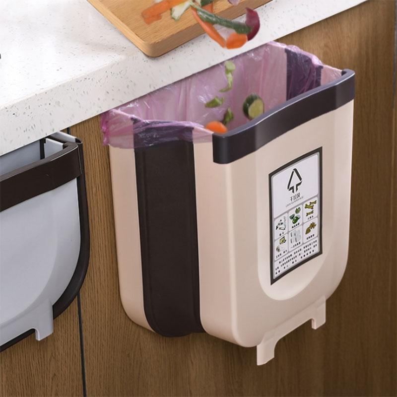 【送20个垃圾袋】厨房橱柜门挂式垃圾桶