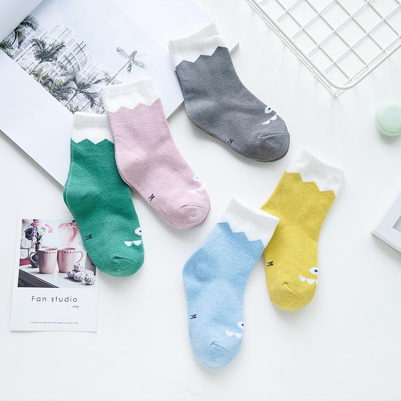儿童袜子纯棉春秋冬款宝宝婴儿袜男童女童透气中筒袜1-3-6-8岁