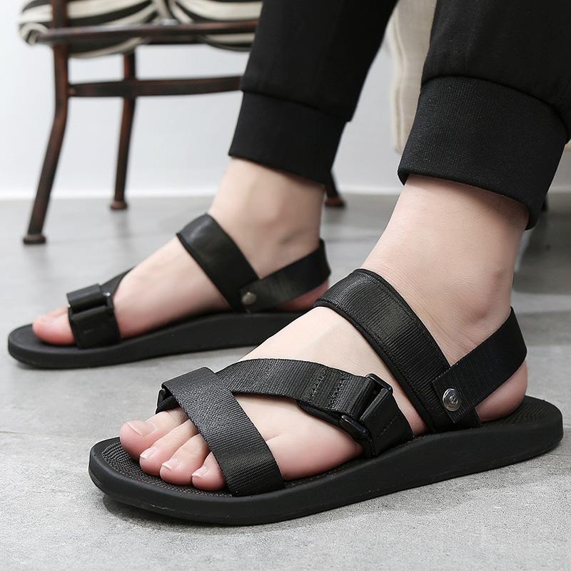 Dép nam mùa hè thời trang nam Dép đôi sử dụng 2019 dép và dép mới Việt Nam giày cao su cá tính - Sandal