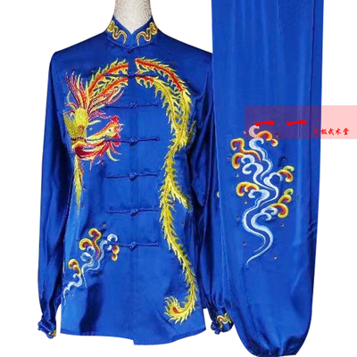 Martial Arts Clothes  Kungfu clothes Tai Chi Clothes Tai Chi Boxing Competition Clothes Embroidery Phoenix Female Performance Clothes