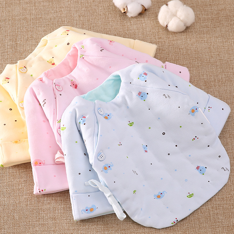 4aab041070b2 USD 24.13  Pure cotton newborn half-back baby quilted cotton jacket ...