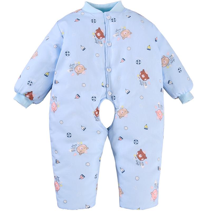 5d8dda477 USD 37.33  Baby winter clothes newborn conjoined clothes male female ...