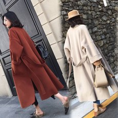 Hepburn fur coat female mid-length 2019 new autumn and winter Korean version popular over the knee-length coat tide Fan