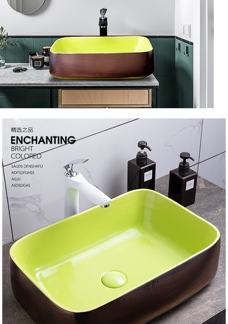 Jingdezhen ceramic lavatory toilet on the sink single basin marble mesa on its northern wind is small