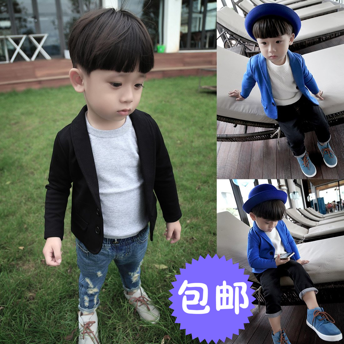 badbdce74 Children's wear 2019 spring and autumn long-sleeved 5 small suit jacket  male baby 1-2-3-4 years old shirt suit tide 6