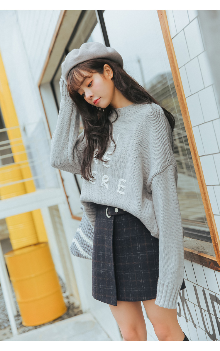 19 Women'S Ulzzang Autumn And Winter Harajuku Thickened Woolen Plaid Retro Skirt Female Cute Japanese Kawaii Skirts For Women 32