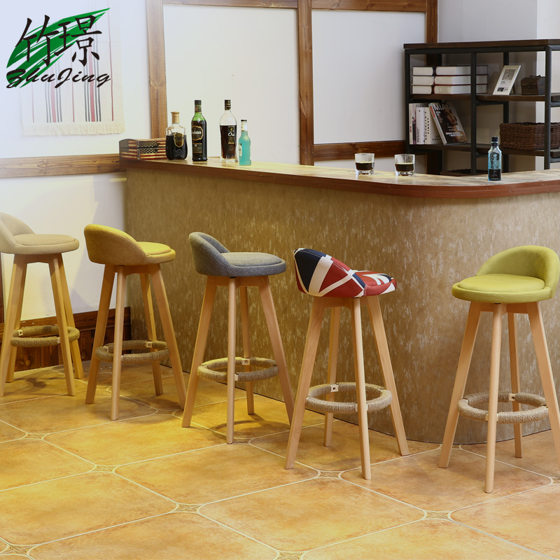 Brilliant Usd 24 13 Bamboo Bar Stool Solid Wood Bar Stool Home Modern Machost Co Dining Chair Design Ideas Machostcouk