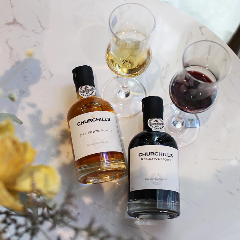 微醺晚安酒 葡萄牙原装进口丘吉尔葡萄酒红宝石小瓶甜红酒波特酒
