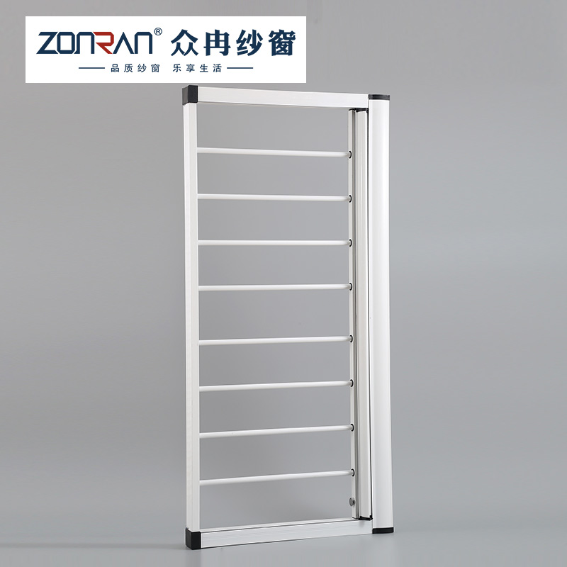 Public ran protective screens anti-mosquito fence invisible shutter-type  aluminum doors and windows self-loading screens net push-pull