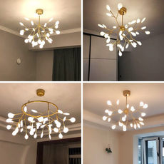 Post-modern minimalist living room lights led Nordic creative Firefly restaurant bedroom lamp chandelier branches personality type