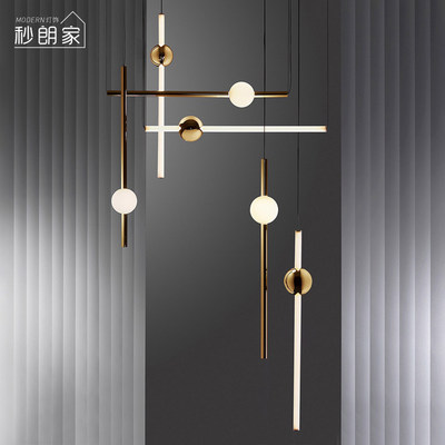 Postmodern chandelier creative personality branch art Simple model room coffee restaurant light North European style living room lamp