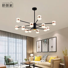 Nordic chandelier creative personality living room lamp modern minimalist branch type molecular dining room light dining room net red bedroom lighting