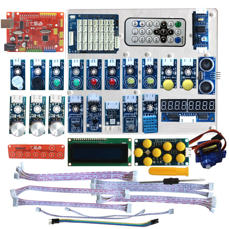 Seven bug graphical programming suite learning board for scratch Ardublock  compatible with arduino
