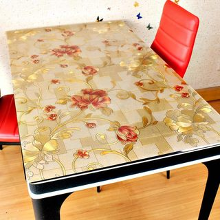 Opaque square table cloth, soft glass crystal board, household tea table mat, PVC waterproof, anti scalding and non washing table cloth