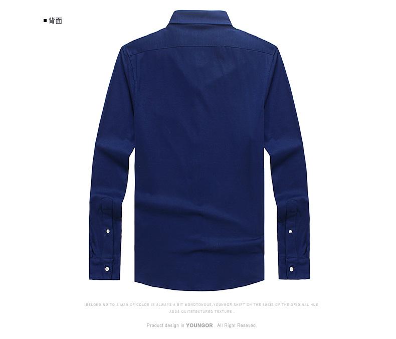 Youngor Youngor Mùa Xuân Nam Cotton Kinh Doanh Bình Thường Dài Tay Áo T-Shirt Nam 5207 ao thun nam