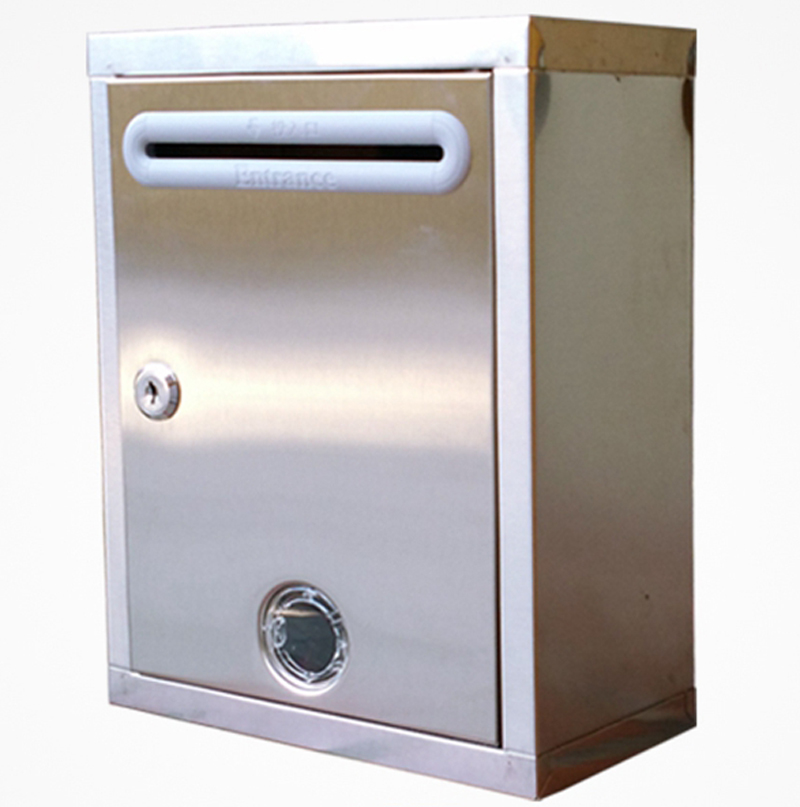 g1312 stainless steel mailbox wall with lock box complaint box