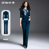 Spring new style, western style, age reduction, fashion temperament, small suit, trousers, two-piece professional suit, female