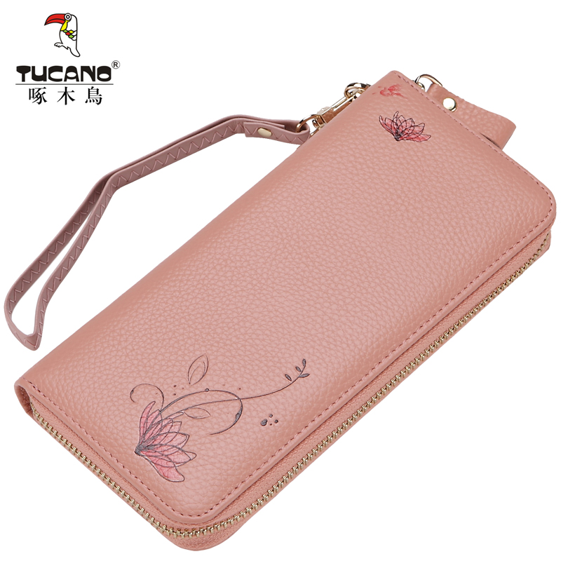 9996bdad0be9 Woodpecker wallet ladies long leather zipper handbag female Korean cute  leather clutch 2018 New · Zoom · lightbox moreview · lightbox moreview ...