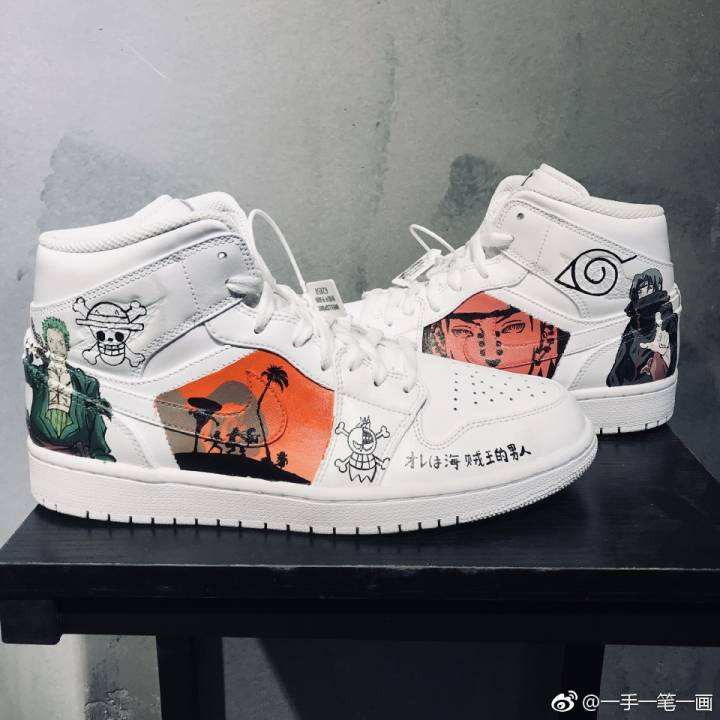 competitive price 67e5e b8fe4 AJ1 Jordan AF1 Air Force One shoes white shoes hand painted graffiti DIY  custom simple pen self-painted hand
