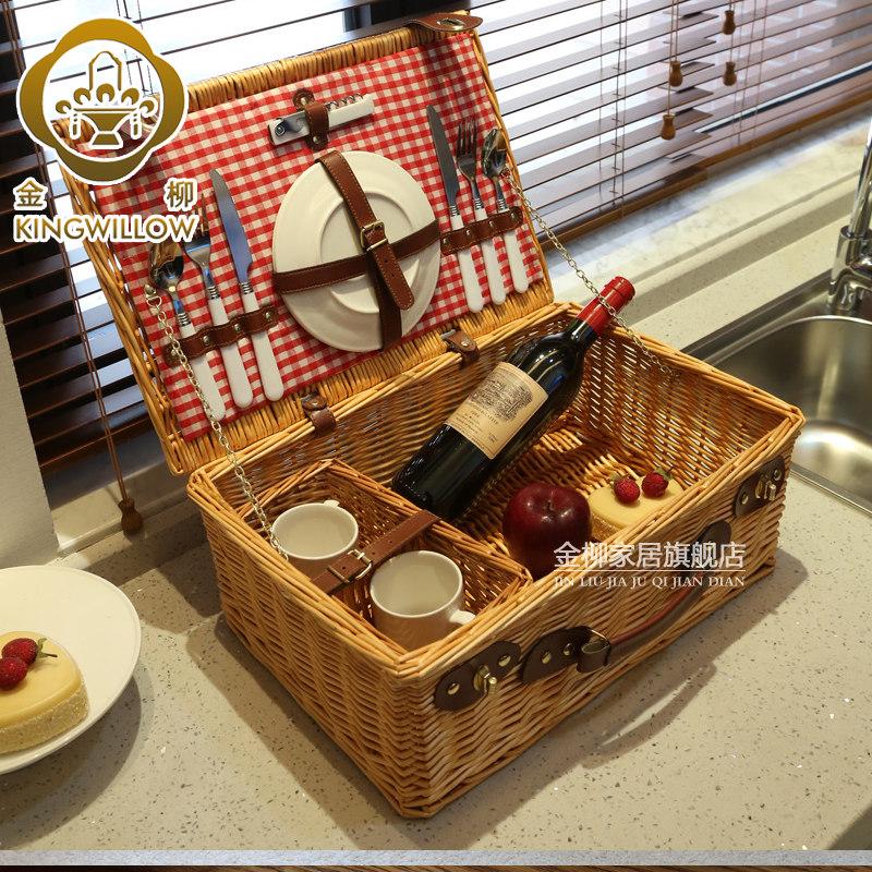 Jinliu домашняя ива ящик для хранения пикник тростник пикник коробка корзина для фруктов корзина для хранения корзина для хранения коллекция пикник на открытом воздухе
