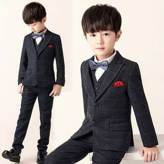 Boy flower girl small suit host costume piano costume suit boy child dress handsome British school uniform