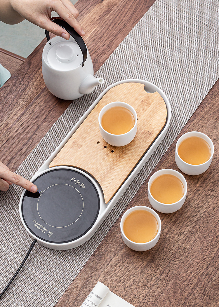 Japanese girder pot of warm tea set of kung fu tea set, small group office carry water with glass ceramic cups