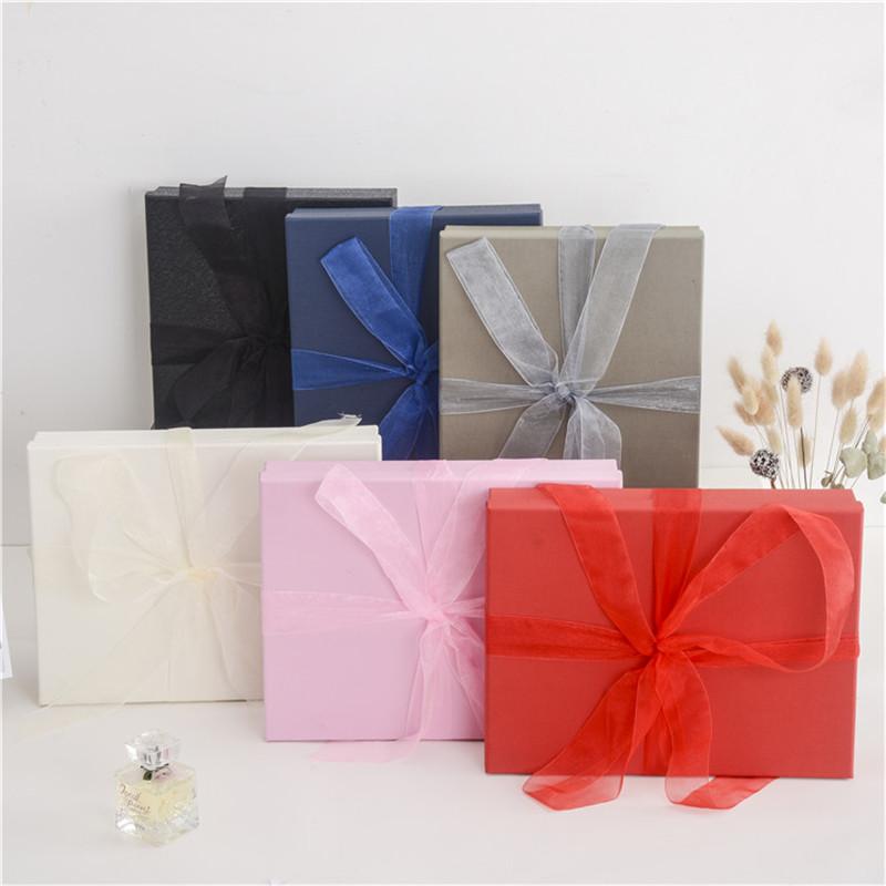 创意男女生日礼物盒子大号丝带礼品盒围巾小礼品包装盒logo定制
