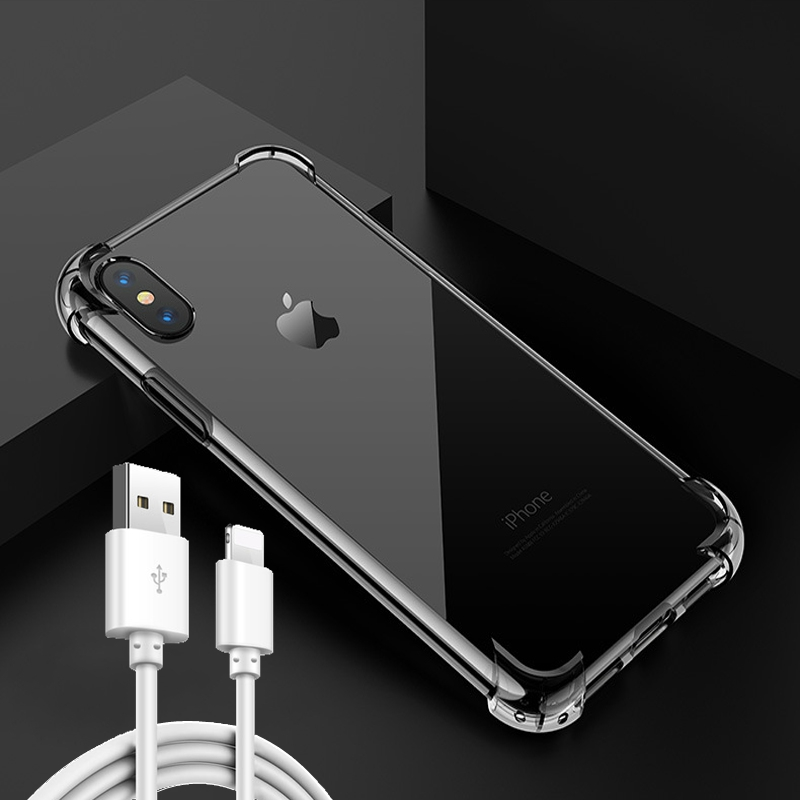 新款iPhonex手机壳苹果保护套适用6 7 8plus防摔壳透明超薄硅胶