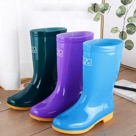 中筒加绒雨鞋雨靴防水鞋