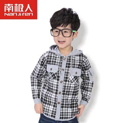 南极人 韩版儿童格子衬衫 90-160cm 券后15元包邮