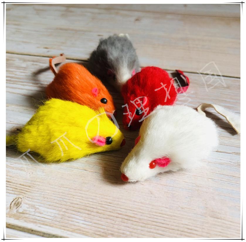 Lý tưởng đất nước cổ điển thỏ da chuột lông lông thỏ lông chuột đồ chơi mèo đầy màu sắc đồ chơi tự nói chuyện - Mèo / Chó Đồ chơi