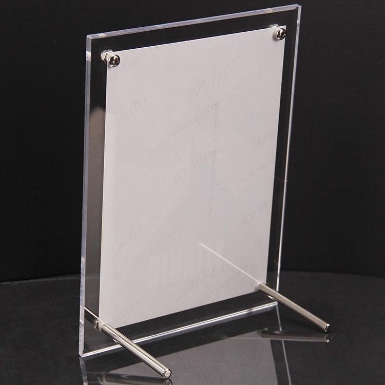 亚克力相框摆台透明水晶挂墙12寸照片相册A4证书奖状A3展示框定制