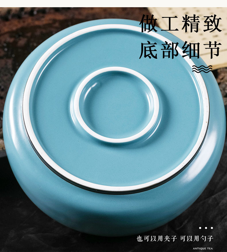 Who was orange tea pot seal pot creative move fashion large moistureproof household one jin of tins Chinese wind