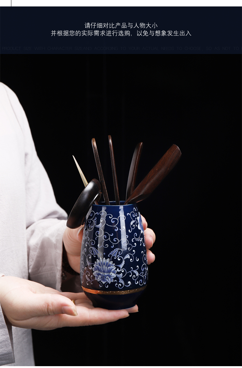 康乐品青瓷暗乡浮动陶瓷茶具茶道六君子雅玩茶夹茶针茶艺组合配件