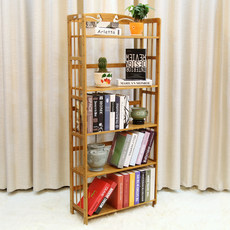 Baishan Jiuchuan Bamboo Bookshelf Solid Board Bamboo Creative Chinese Study Simple Bookshelf Super Firm and Strong