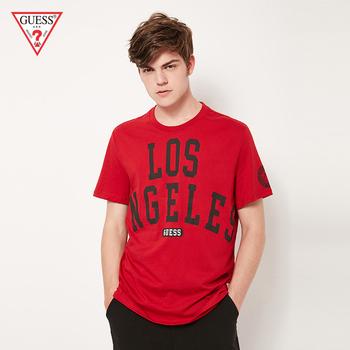 GUESS2020 новый человек ученый твердый письмо LOGO короткий рукав T футболки -M92I36I3Z00, цена 5839 руб