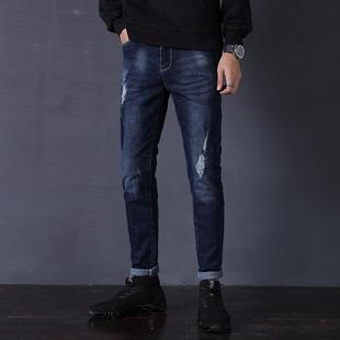 【金彩果】弹力修身秋冬加绒牛仔裤