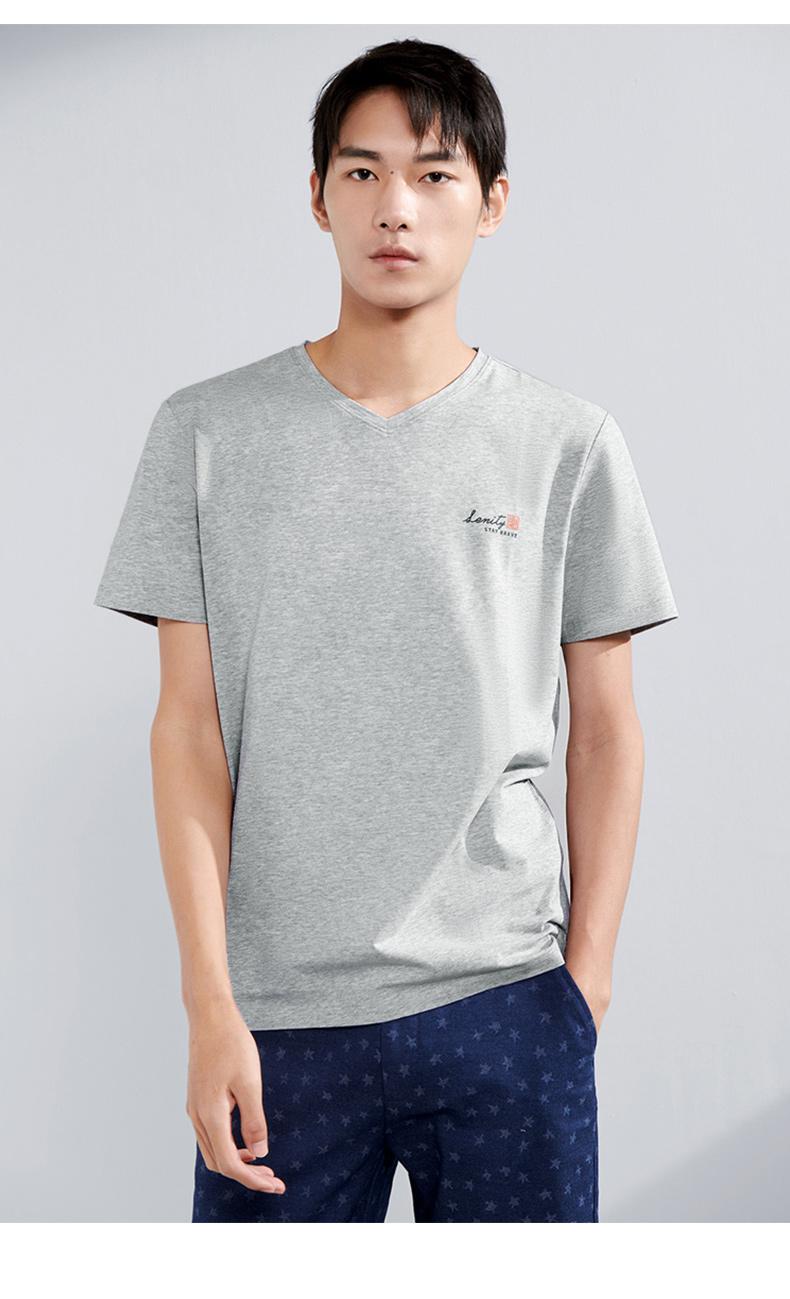 海澜之家 HLA 2021新款 男纯棉短袖T恤 图11