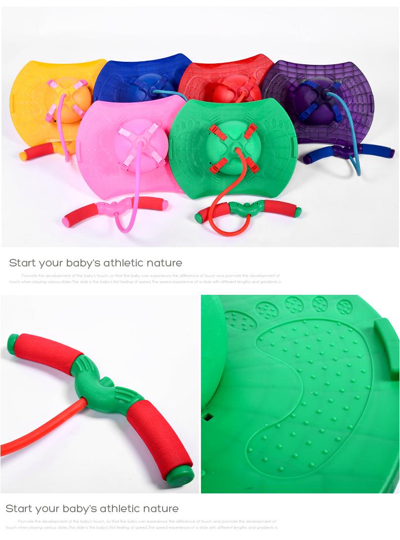 幼儿园感觉统合训练器材跳跳球儿童蹦蹦球健身球弹跳球平衡踏板加厚详细照片