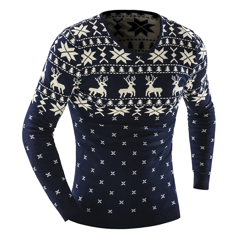 2018 winter pullover men christmas elk sweater jumper v neck deer pattern slim fit knitted christmas sweaters knitwear 7746 from happyjeffery