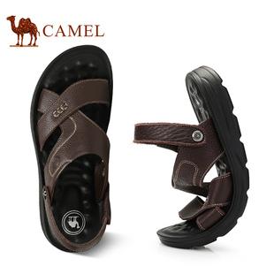 【骆驼】夏季新款真皮男士凉鞋皮鞋