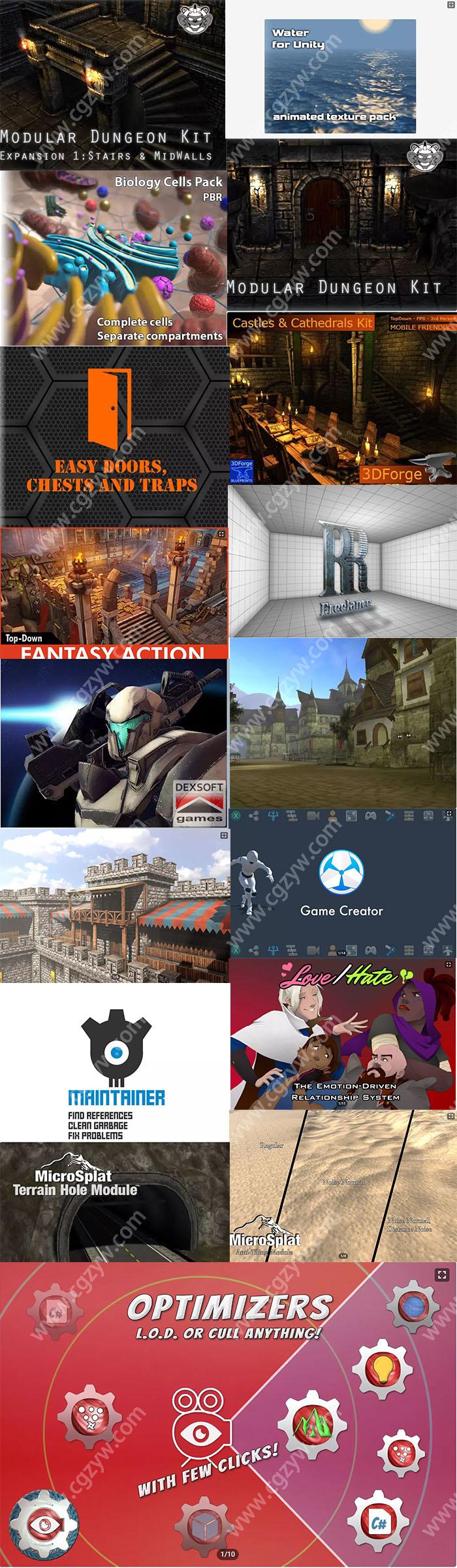 Unity游戏资源素材2020年5月合集第一波