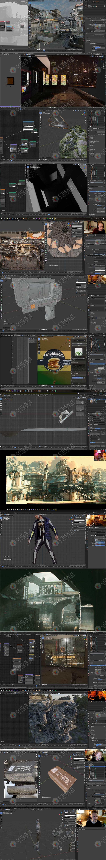 Blender大师级概念艺术设计训练视频教程合集