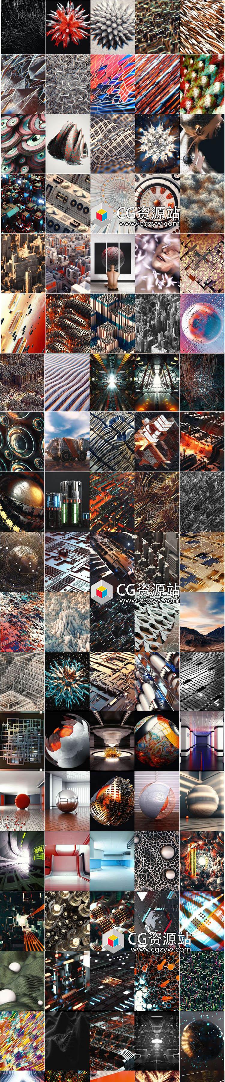 301个C4D物理渲染器项目文件Cinema4D模型包Win/Mac
