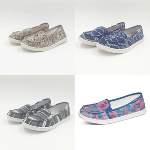 European and American exports canvas shoes soft flat women's shoes a pedal spring and summer women's shoes