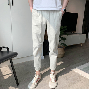 【限时大促】男裤九分束脚小脚裤工装裤