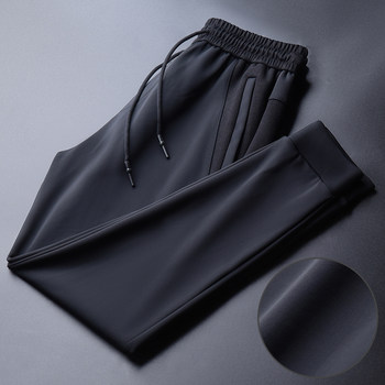 Sports pants men's ice silk pants spring and summer thin casual trousers high-end silky quick-drying pants loose beam feet pants