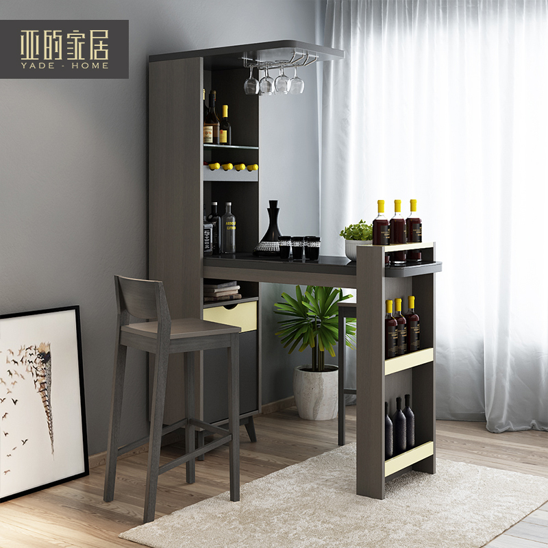 Nordic Modern Minimalist Bar Bar Chair Partition Cabinet Wine Cabinet Set Small  Apartment Living Room Furniture Hall Cabinet Combination