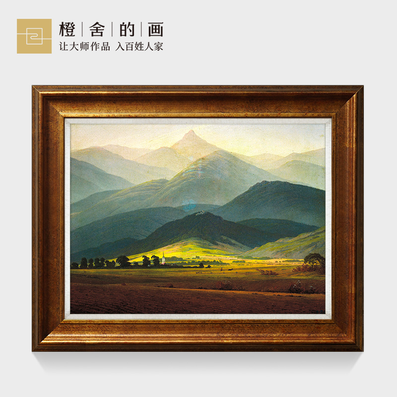 Orange House European Painting Decoration Painting Living Room Scenery Oil  Painting American Restaurant Hanging Painting Modern Xuan Guan Giant  Mountain Part 51